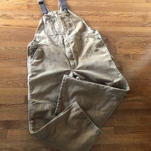 Carhartt Brown Insulated Overalls 48x30 Mens